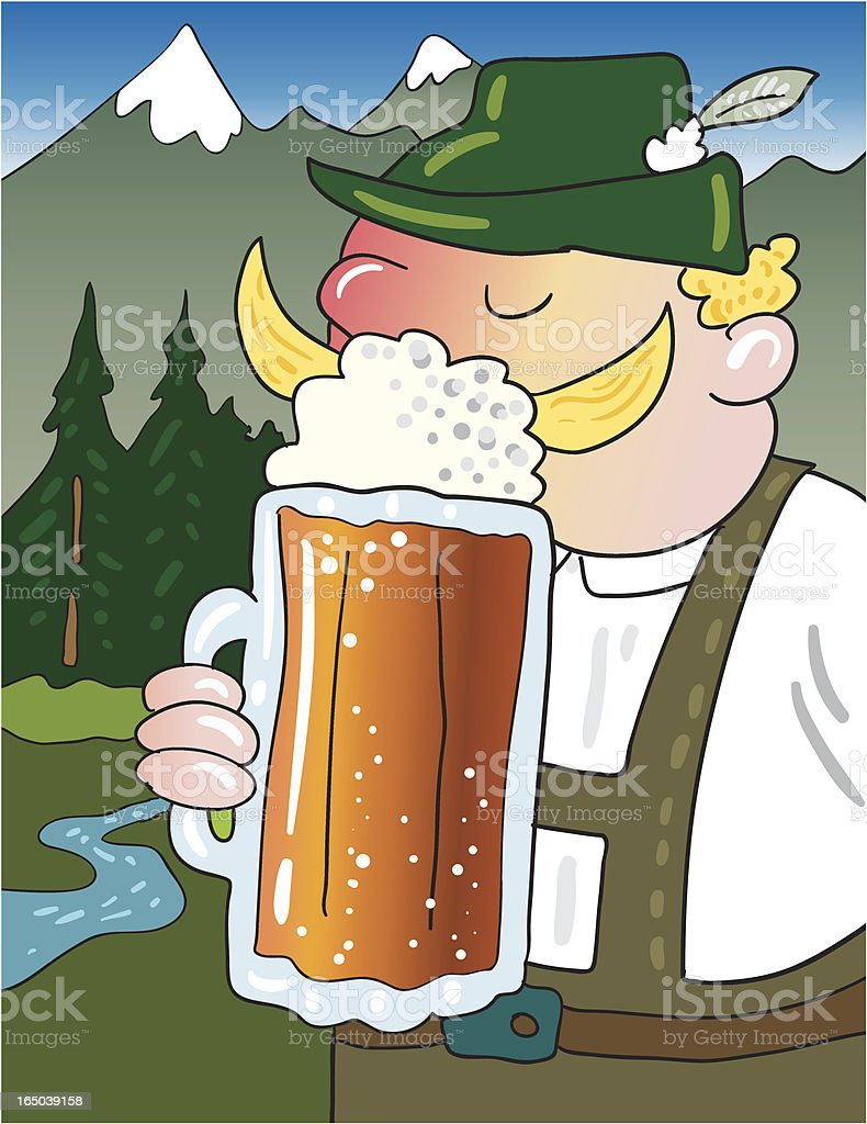 Octoberfest beer drinking royalty-free octoberfest beer drinking stock vector art & more images of adult