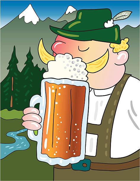 oktoberfest bier trinken - schwarzwald stock-grafiken, -clipart, -cartoons und -symbole