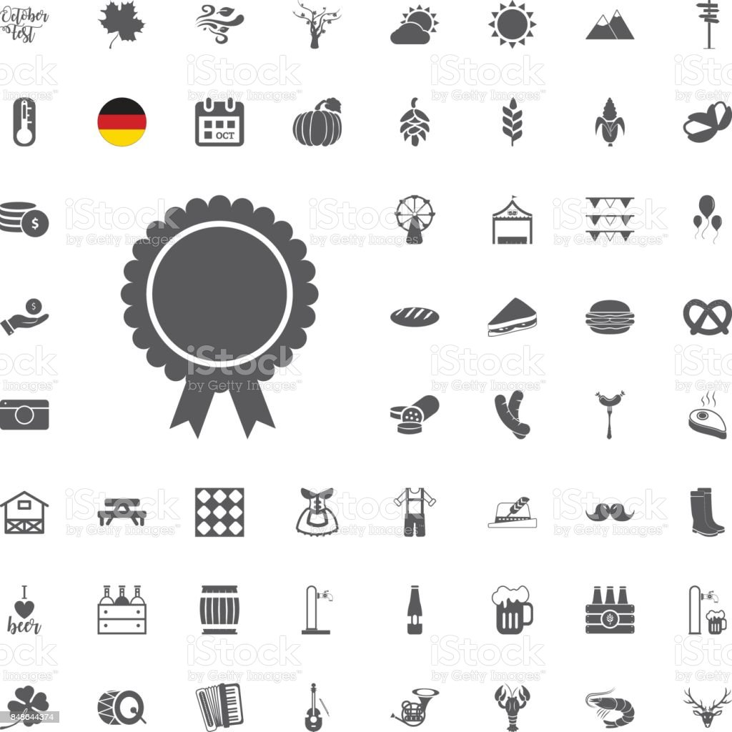 7b6cc730686 Octoberfest icon set. German food and beer symbols isolated on white  background. Vector illustration