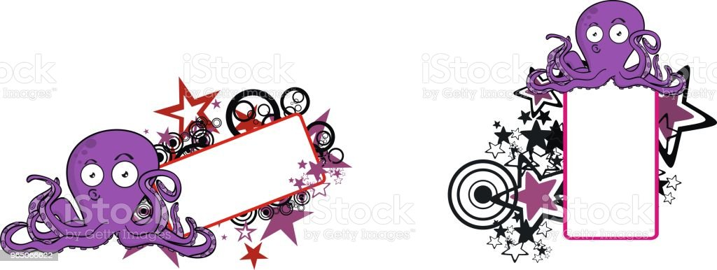 octopus cartoon expression copyspace set royalty-free octopus cartoon expression copyspace set stock vector art & more images of abstract