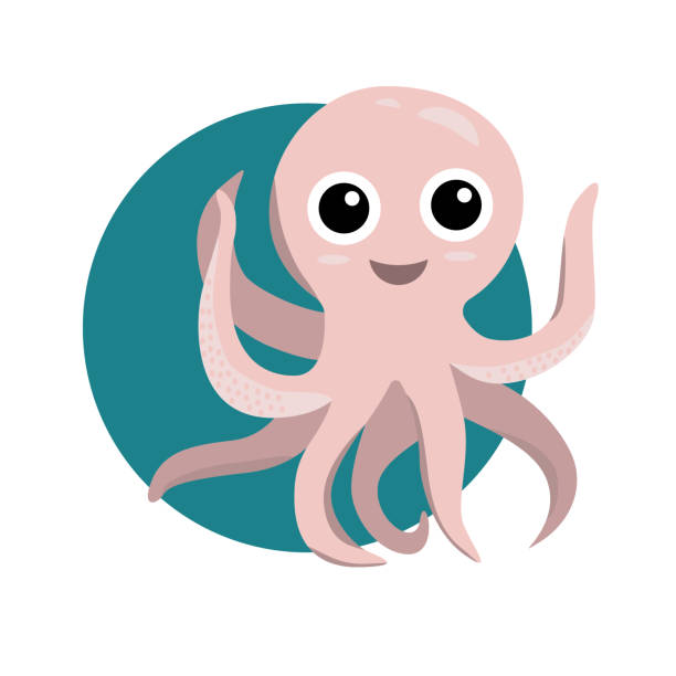 Cute Blue Octopus Cartoon Smiling Royalty Free Cliparts, Vectors, And Stock  Illustration. Image 22575428.