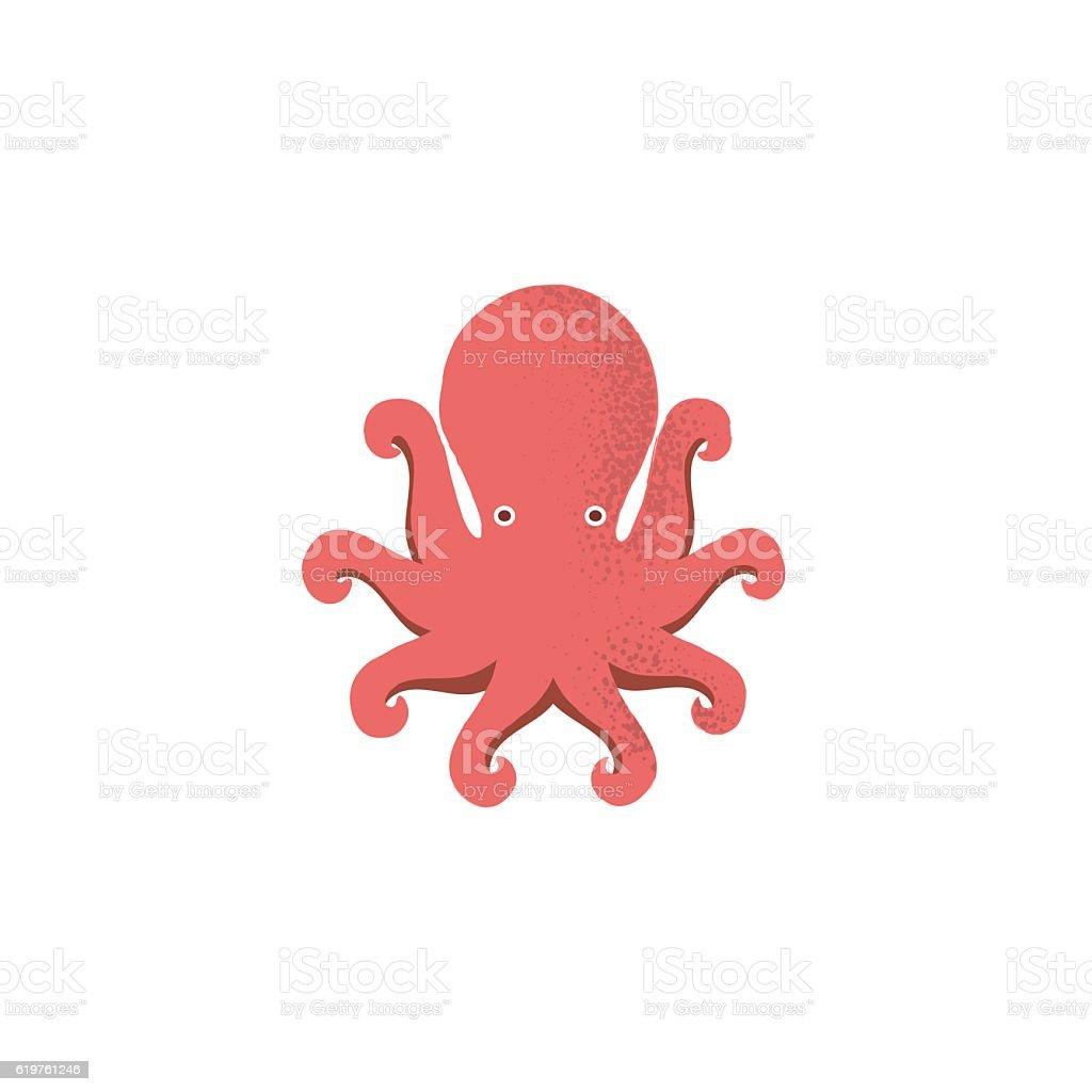 Octopus icon vector art illustration