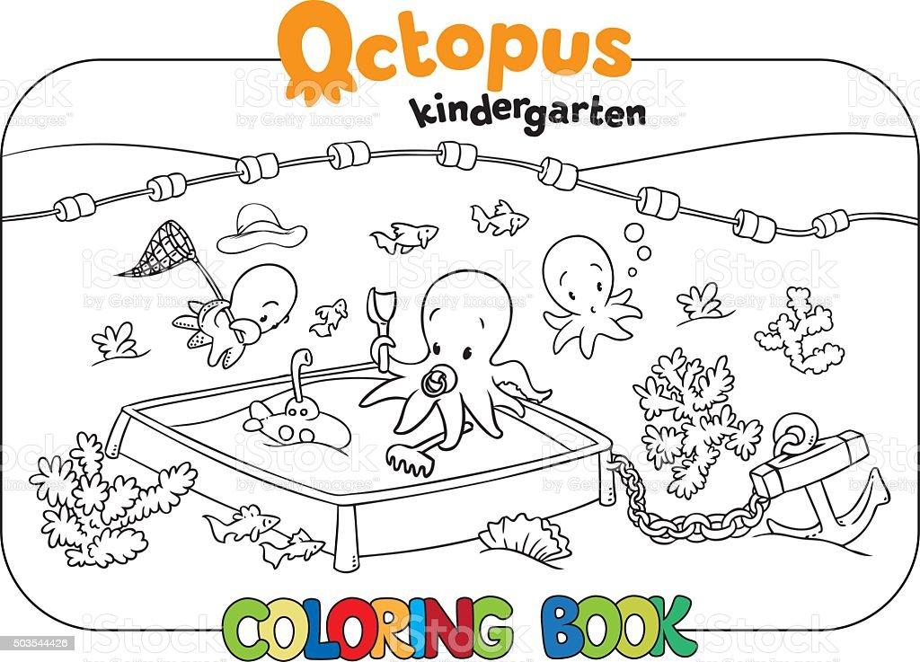 Ilustración de Pulpo Jardines De Infancia Jugando Libro Para ...