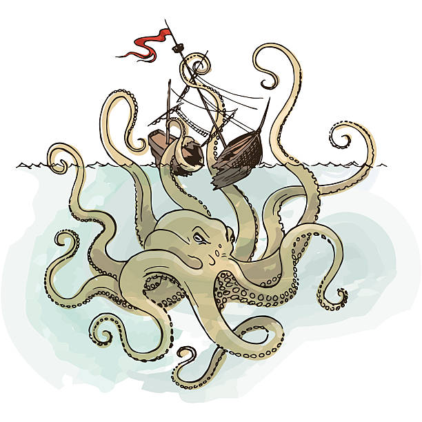 kraken illustrations royaltyfree vector graphics  clip