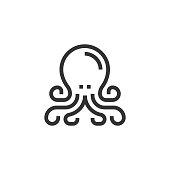 istock Octopus Line Icon 1294819254