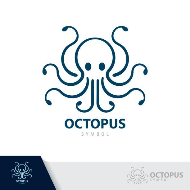 octopus symbol icon. - octopus stock illustrations