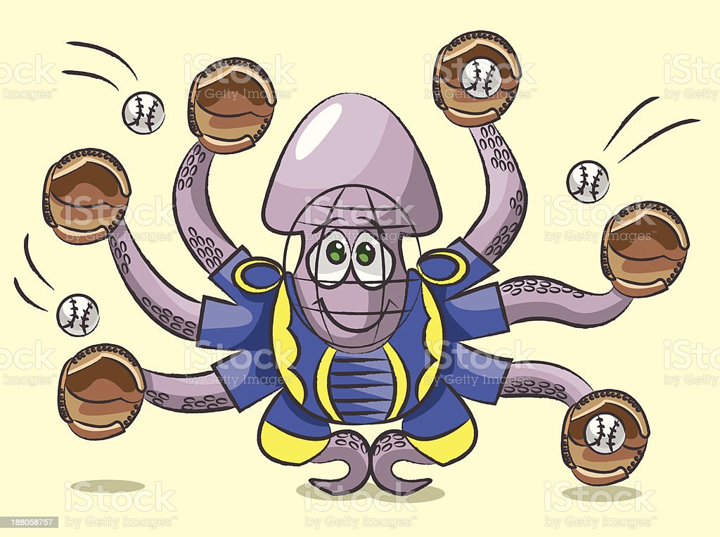 Octopus - the catcher royalty-free stock vector art