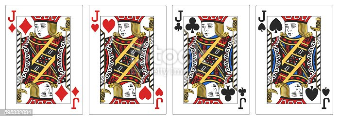 istock 4 of a kind Jacks poker playing card 595332034