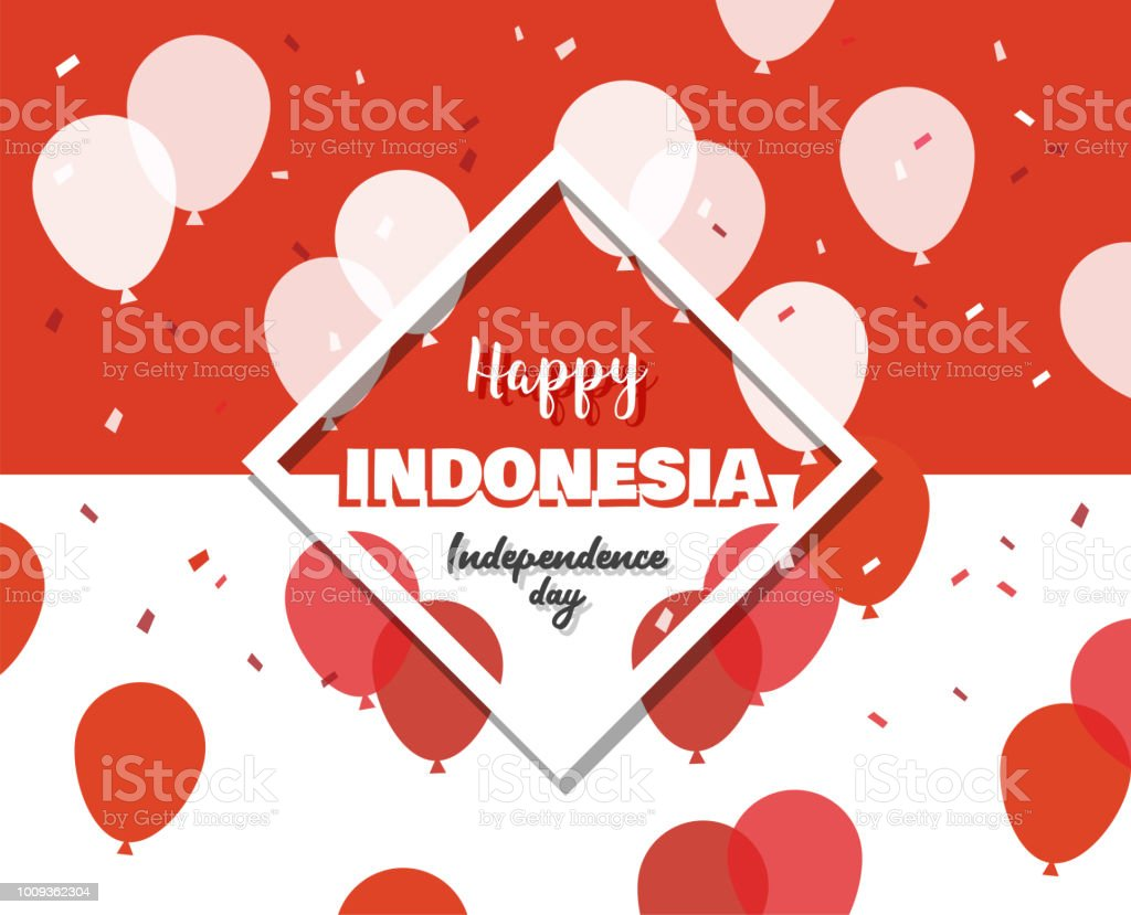 17 of August on firework background . banner for celebrate the national day of Indonesia. Indonesia Happy Independence Day greeting card . vector illustration vector art illustration