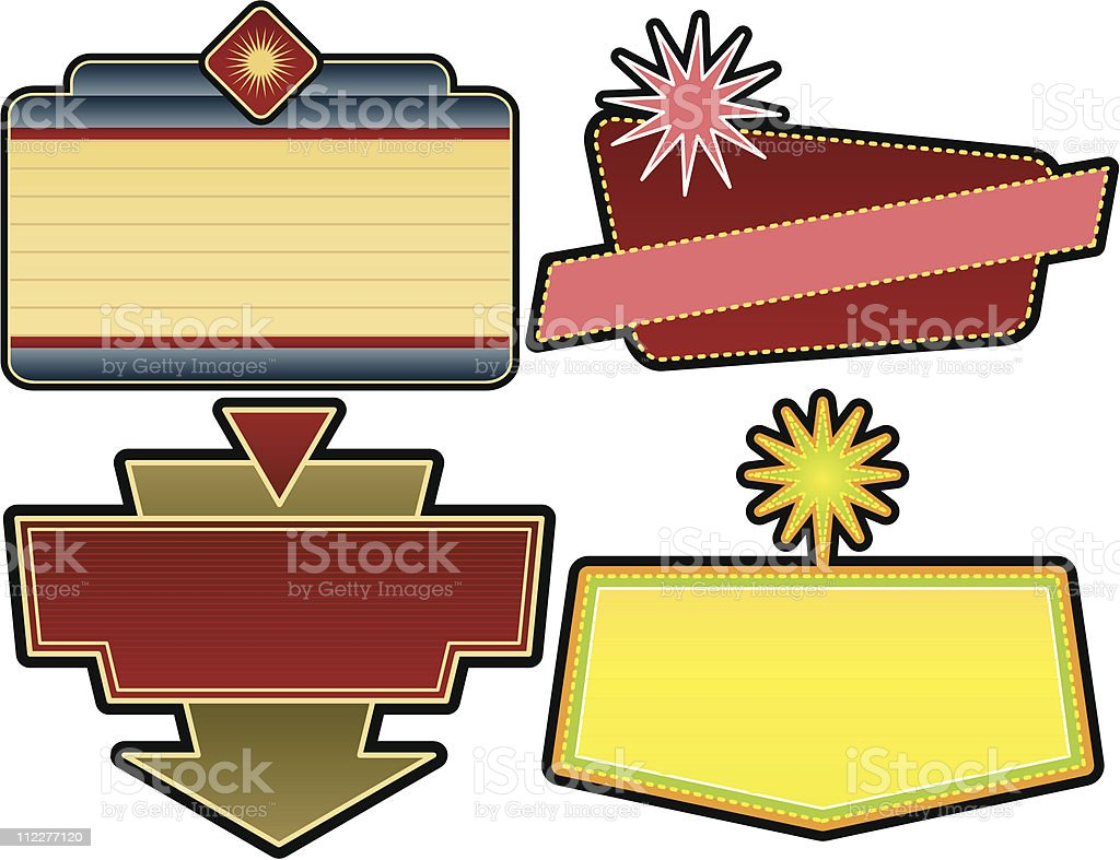 SET of four theater signs royalty-free stock vector art