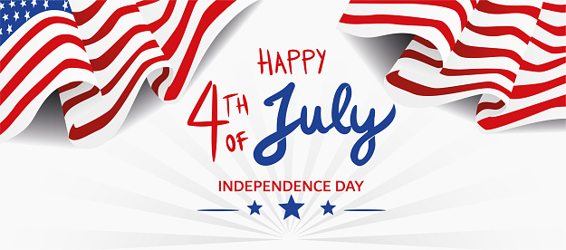 4TH of July Banner centered text