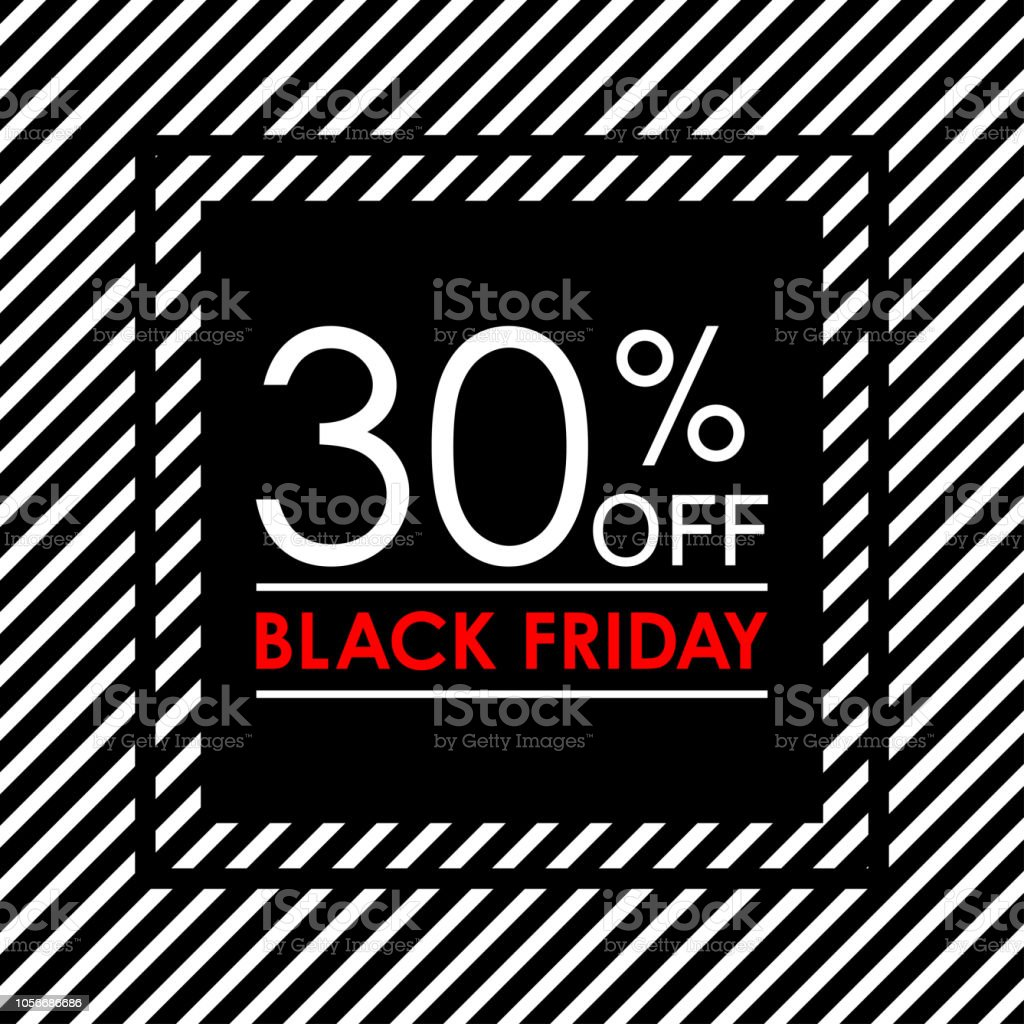 30 off black friday sale and discount banner sales tag design