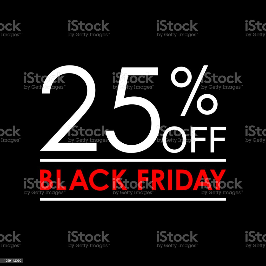 25 off black friday sale and discount banner sales tag design