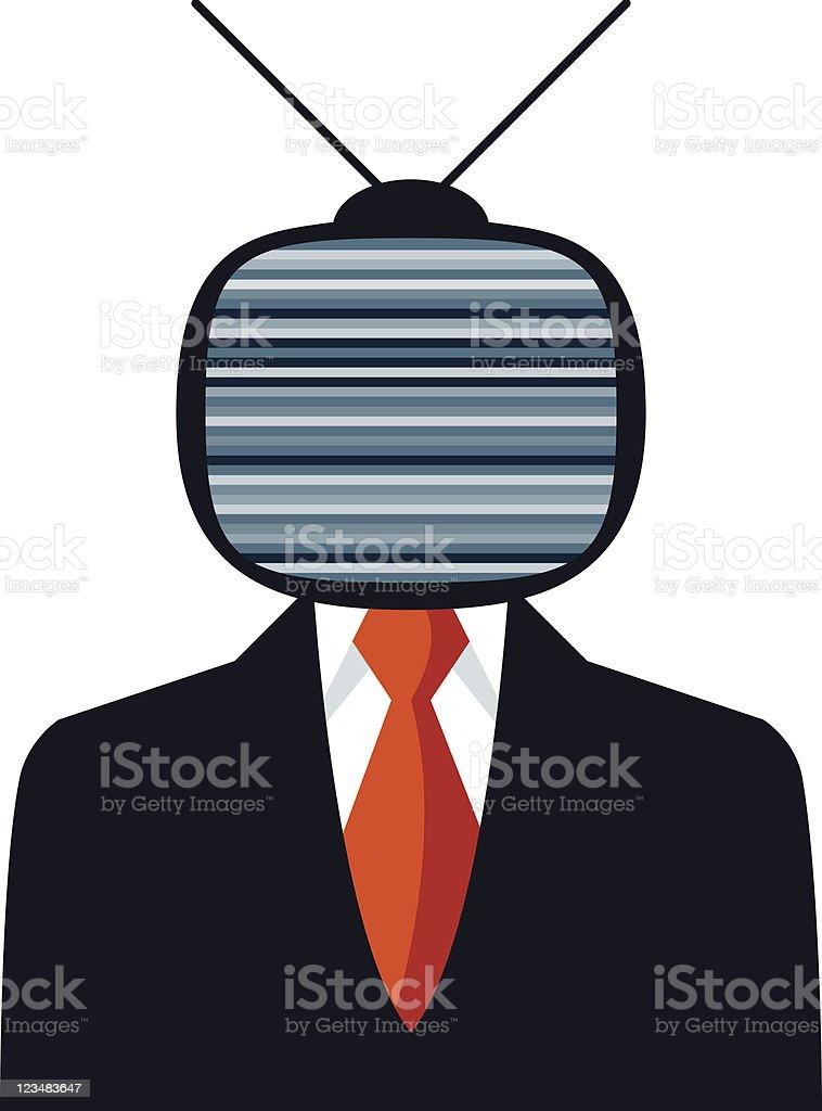 Off Businessman vector art illustration