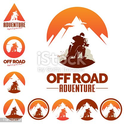 Off Road Adventure O and A letter based. vector