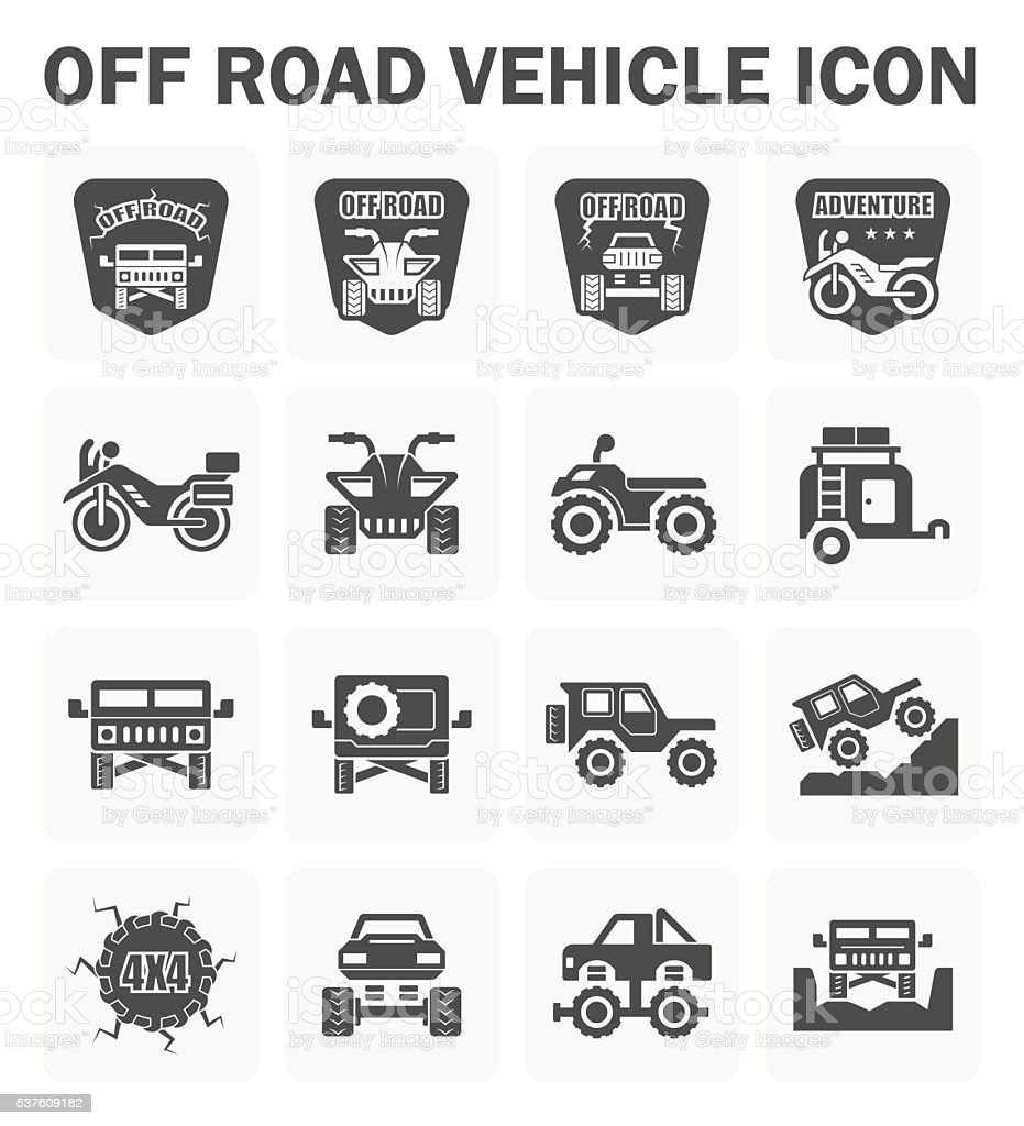 Off road icon vector art illustration