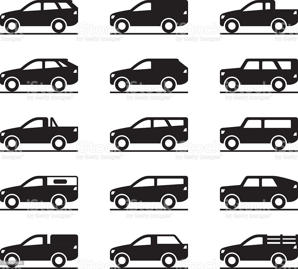 Off roads and sport utility vehicles vector art illustration