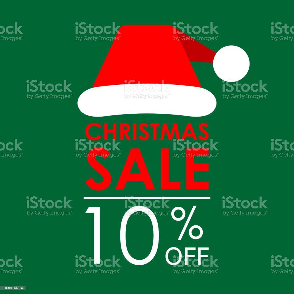 10 Rabatt Weihnachten Verkauf Banner Und Rabatt Entwurfsvorlage Mit ...