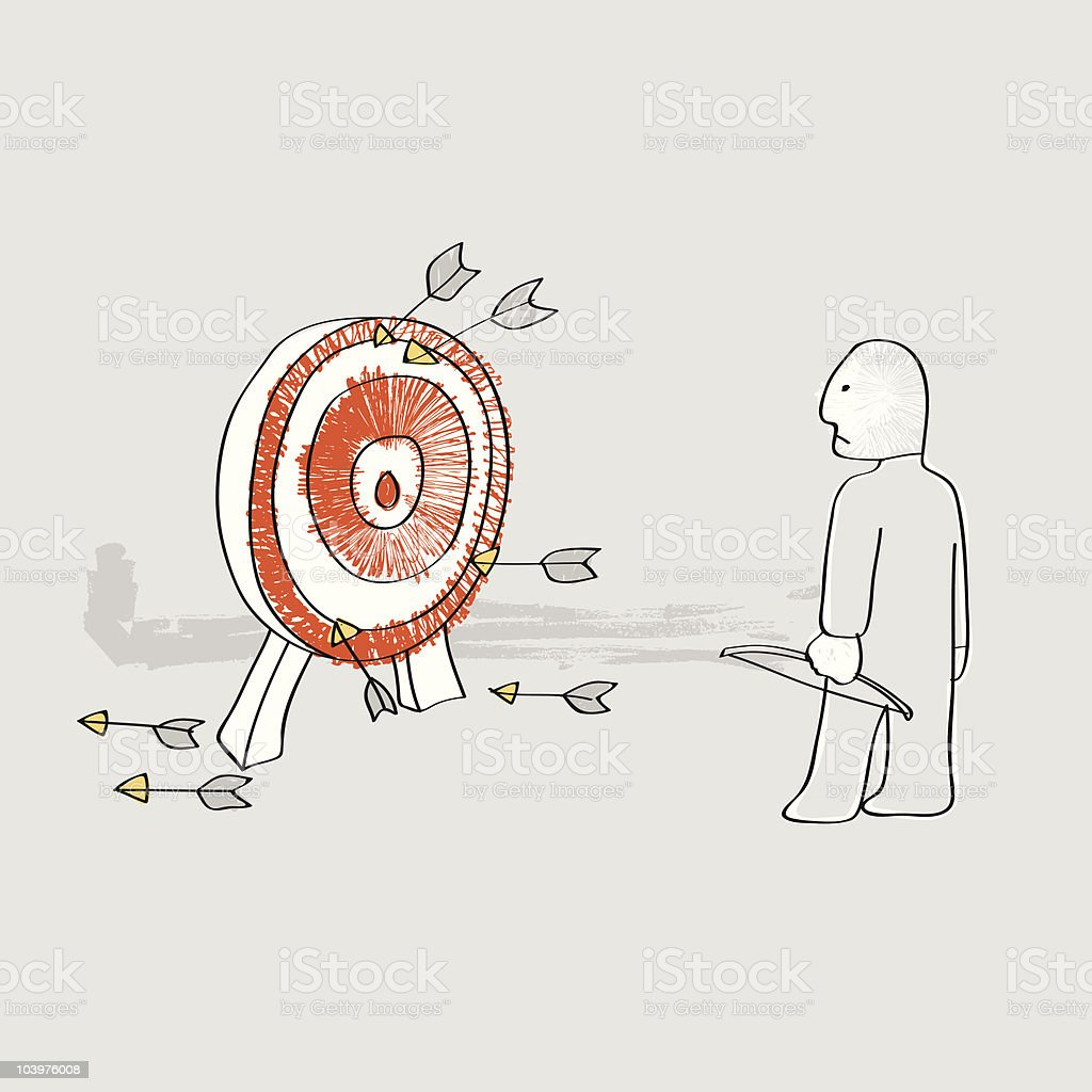 Off target royalty-free stock vector art