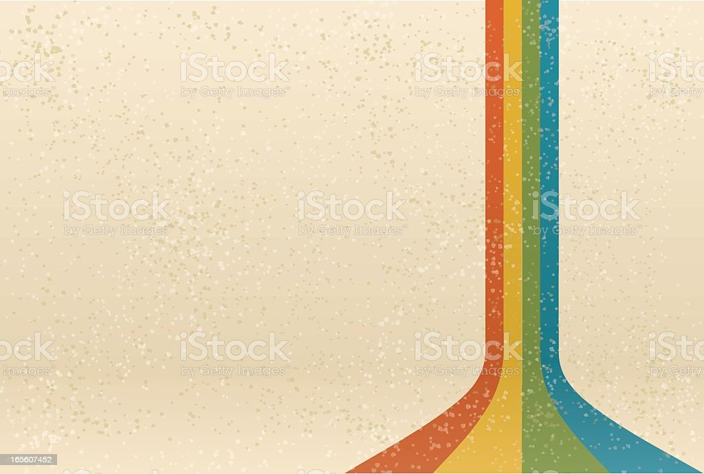 Off white background with 4 color cascades  royalty-free stock vector art