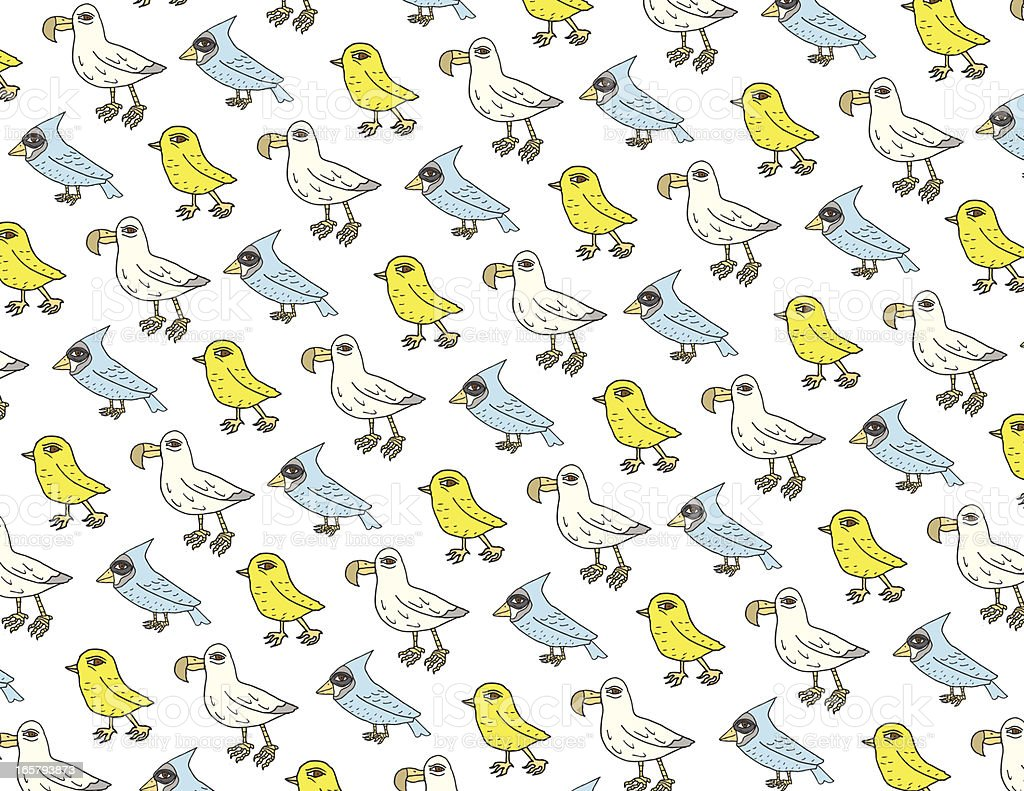 Offbeat Bird Pattern vector art illustration