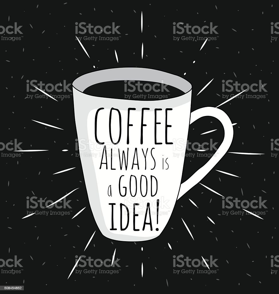 offee mug vector art illustration