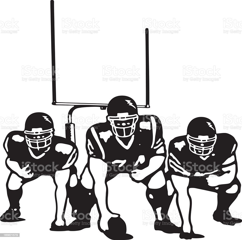 Offensive Line royalty-free stock vector art
