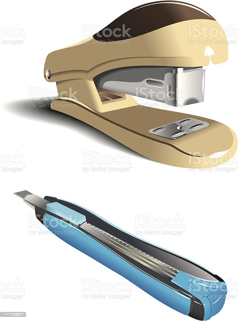 Office accessories royalty-free office accessories stock vector art & more images of blade