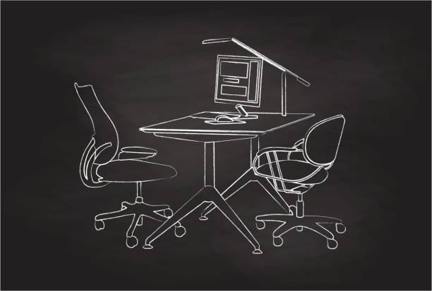 büro nach stunden - mauspad stock-grafiken, -clipart, -cartoons und -symbole