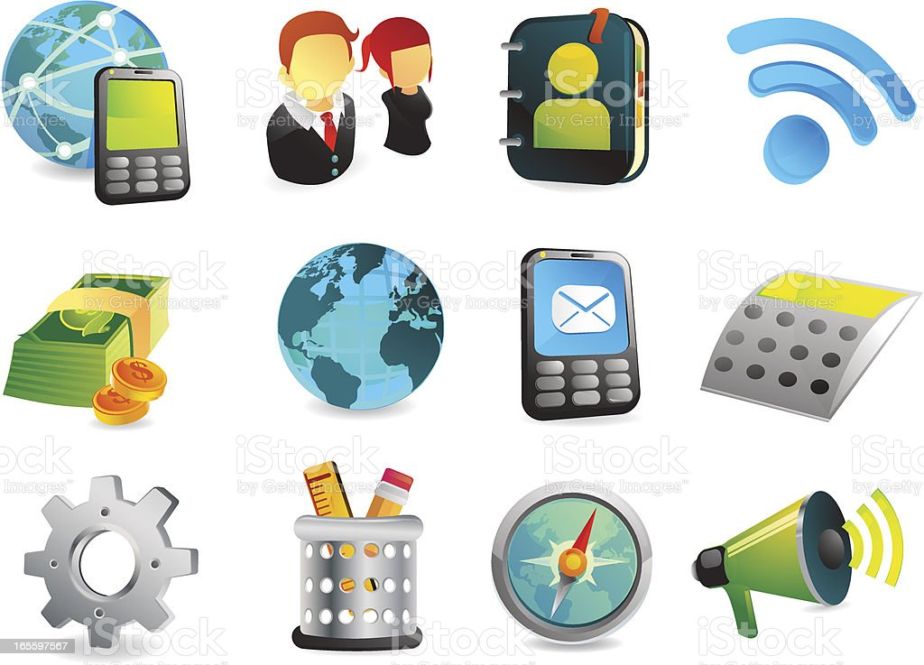 Office & Business Web Icons royalty-free office amp business web icons stock vector art & more images of aspirations