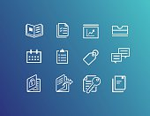 Office and bookmark icons