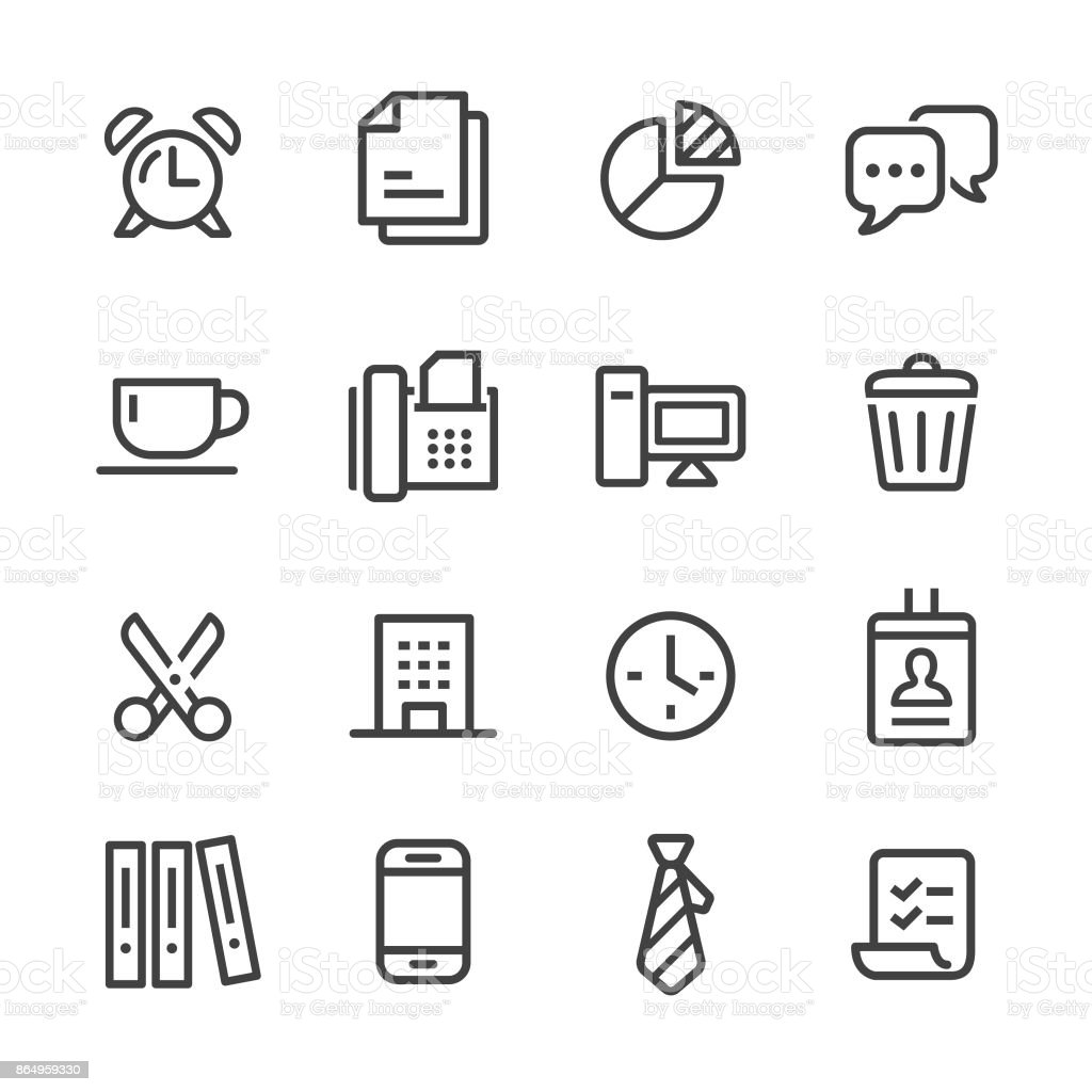 Office and Business Icon - Line Series