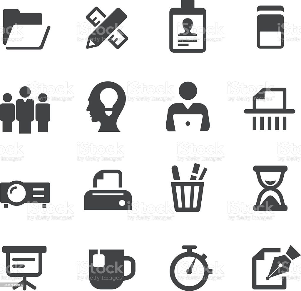 Office and Business Icons - Acme Series vector art illustration
