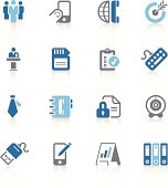 Office and business icons | azur series