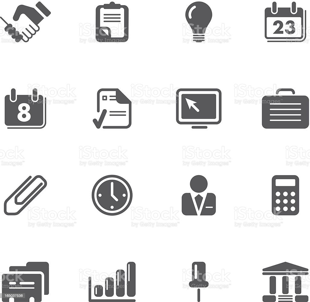 Office and Business icons   prime series royalty-free stock vector art