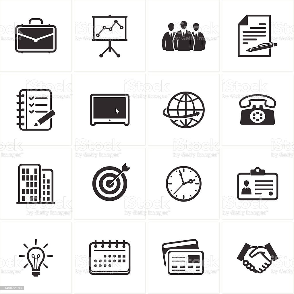 Office and Business Icons vector art illustration