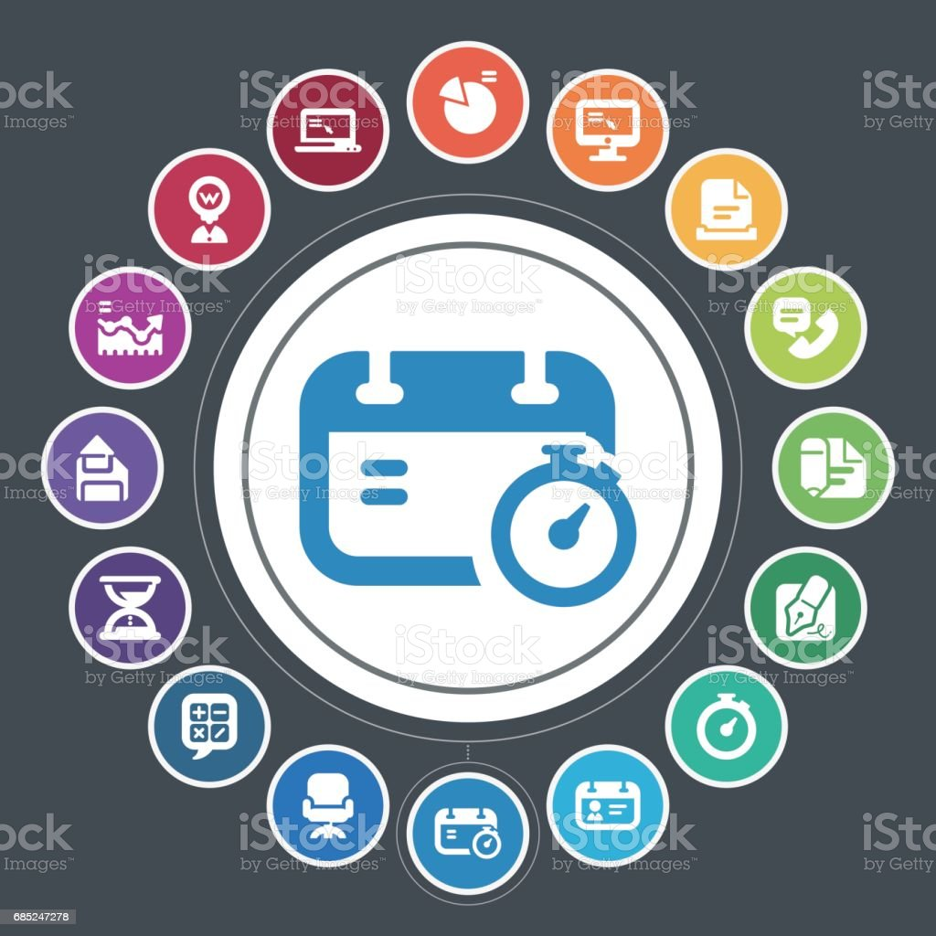 Office and business icons royalty-free office and business icons stock vector art & more images of address book