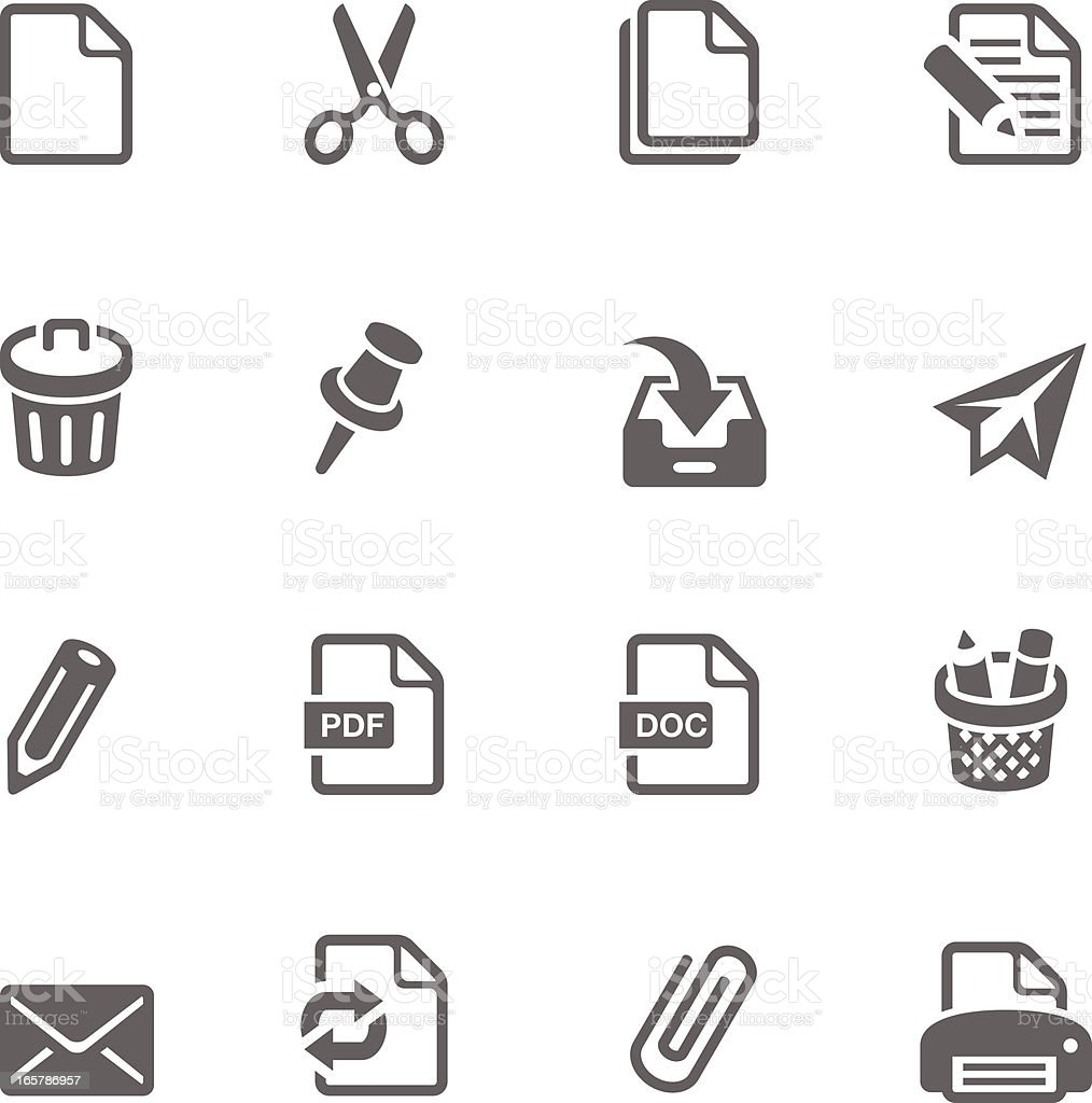 Office and Documents Icon Set | Simplicity2 Series royalty-free stock vector art