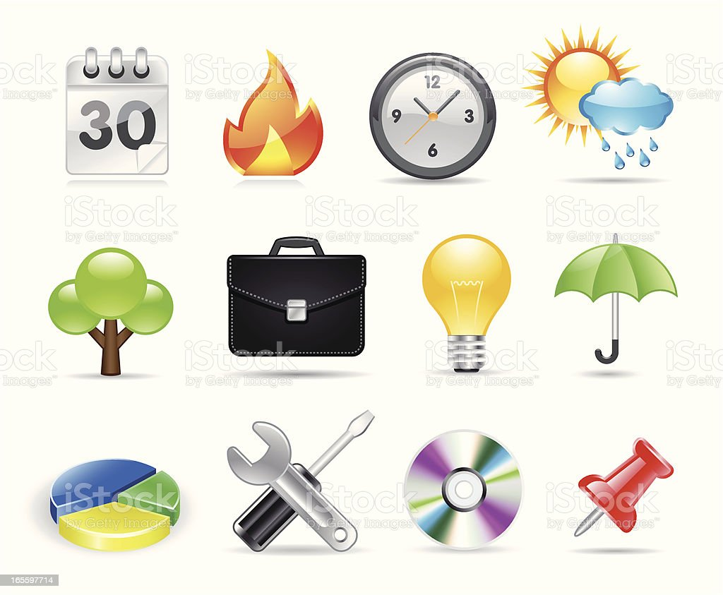 Office and Software Icons royalty-free office and software icons stock vector art & more images of bag