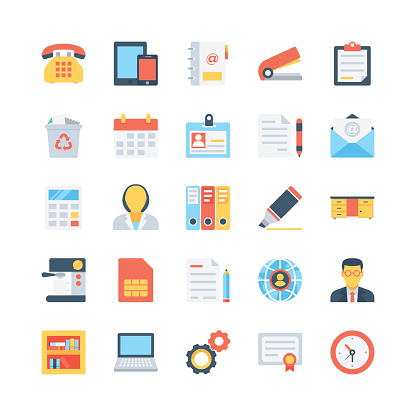 Office and Stationery Vector Icons 1