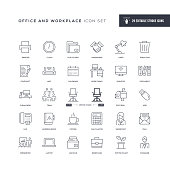29 Office and Workplace Icons - Editable Stroke - Easy to edit and customize - You can easily customize the stroke with