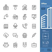 Office and Workplace vector icons - PRO pack