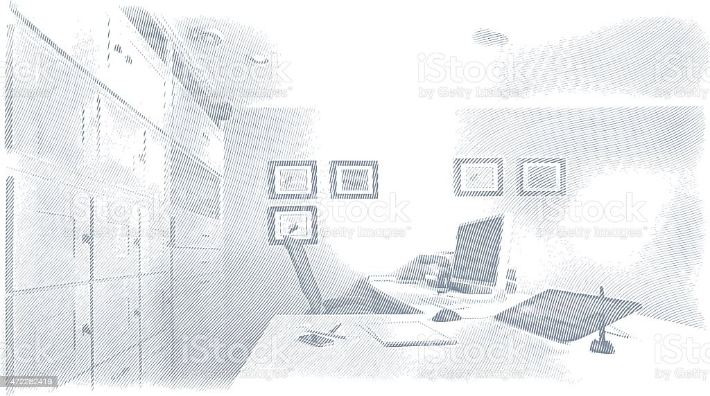 Office Background royalty-free stock vector art