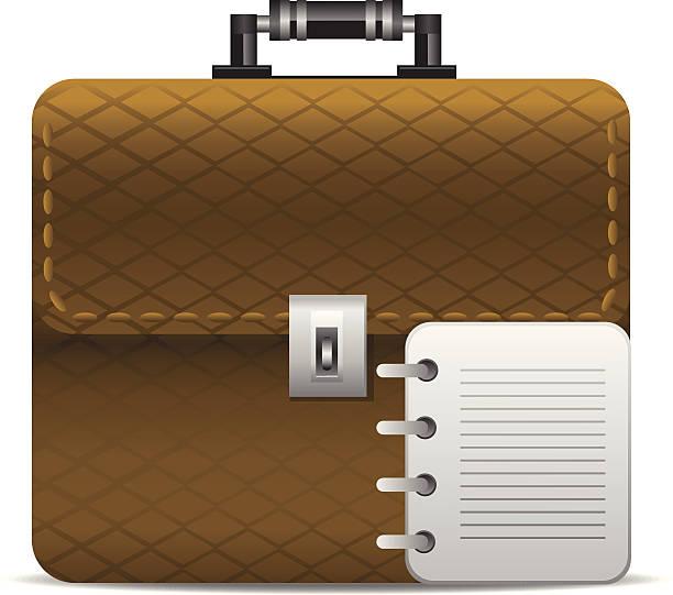 büro-tasche - laptoptaschen stock-grafiken, -clipart, -cartoons und -symbole