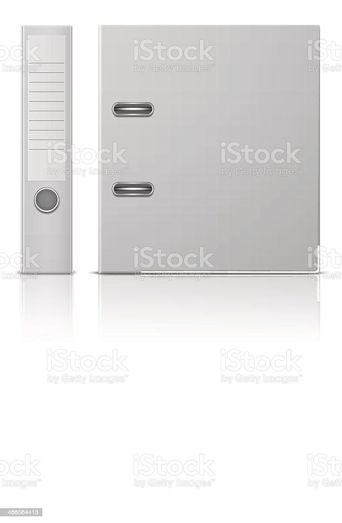 Office binder, back and side view. vector art illustration