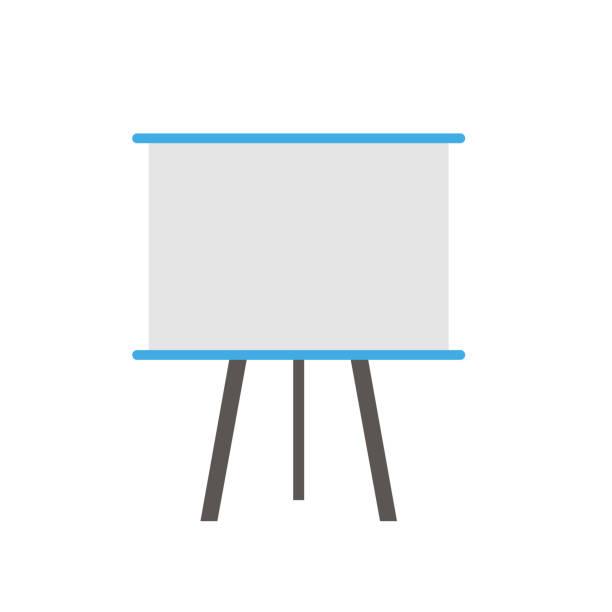 büro-board. vektor - flipchart stock-grafiken, -clipart, -cartoons und -symbole