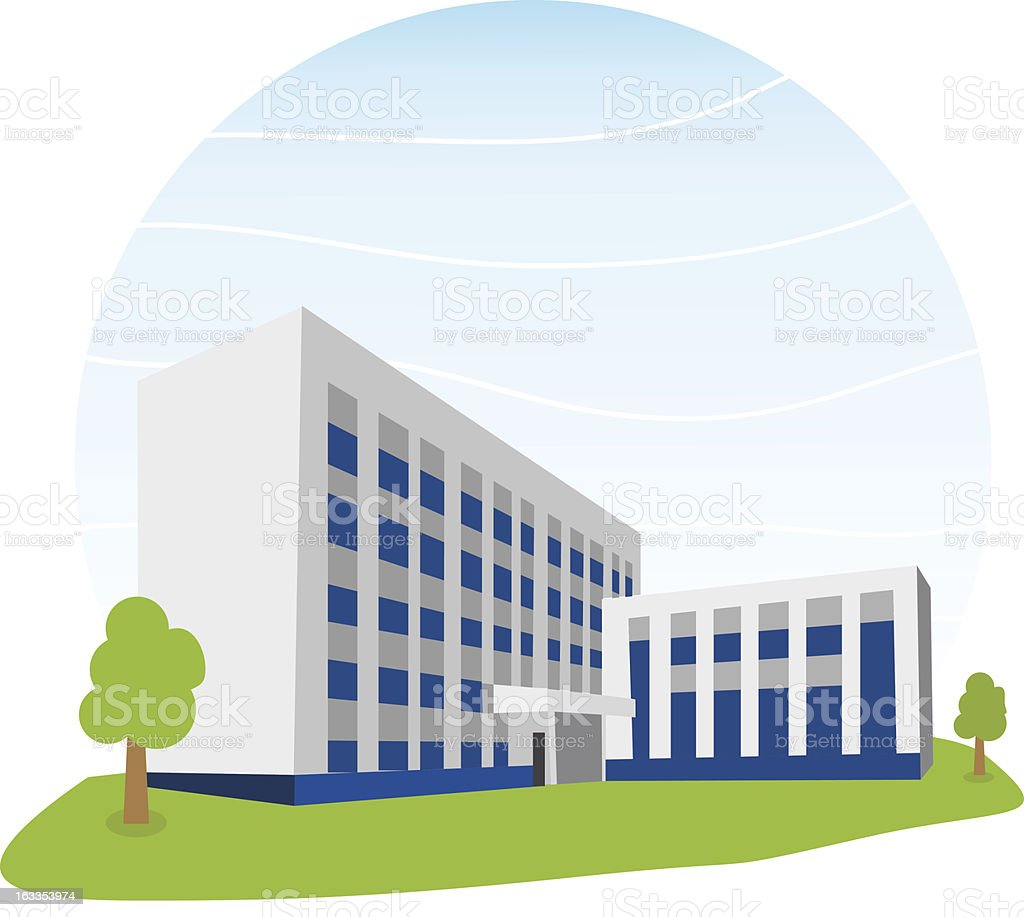 royalty free small office building clip art vector images rh istockphoto com Cartoon Office Building small office building clipart