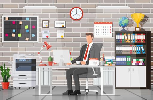 Office building interior.