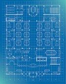 office building plan blueprint entrance floor, pdf,png,ai8 incl.