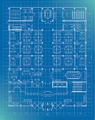 office building plan blueprint entrance floor